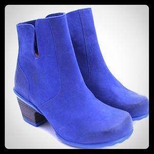 Gorgeous Blue Rosy Booties by John Fluevog